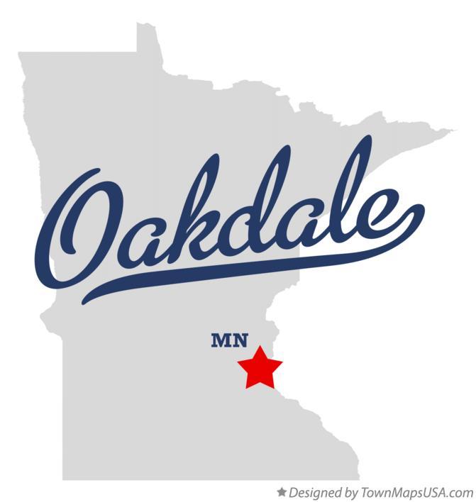 Map of Oakdale, MN, Minnesota