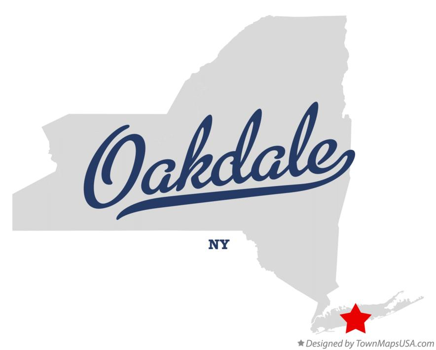 Map of Oakdale New York NY