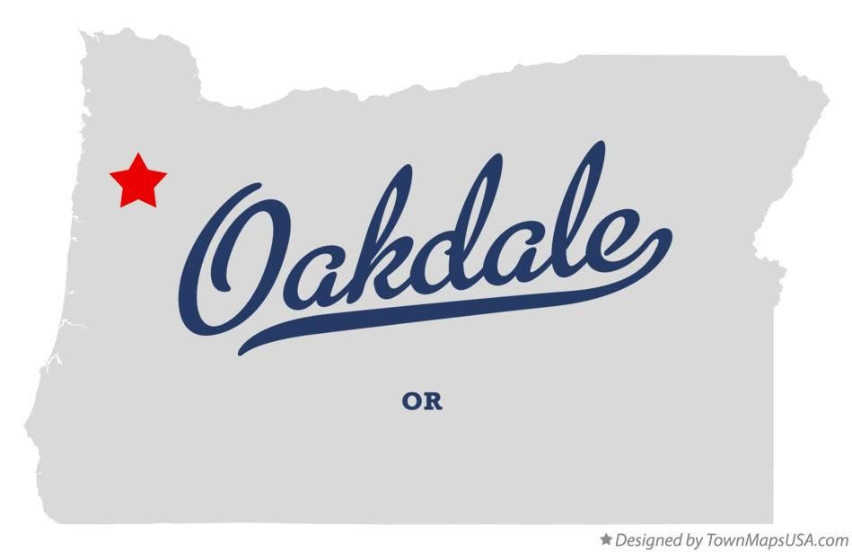 Map of Oakdale Oregon OR