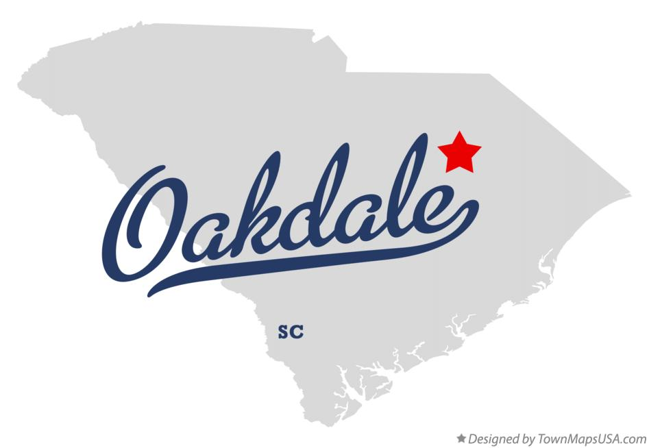 Map of Oakdale South Carolina SC