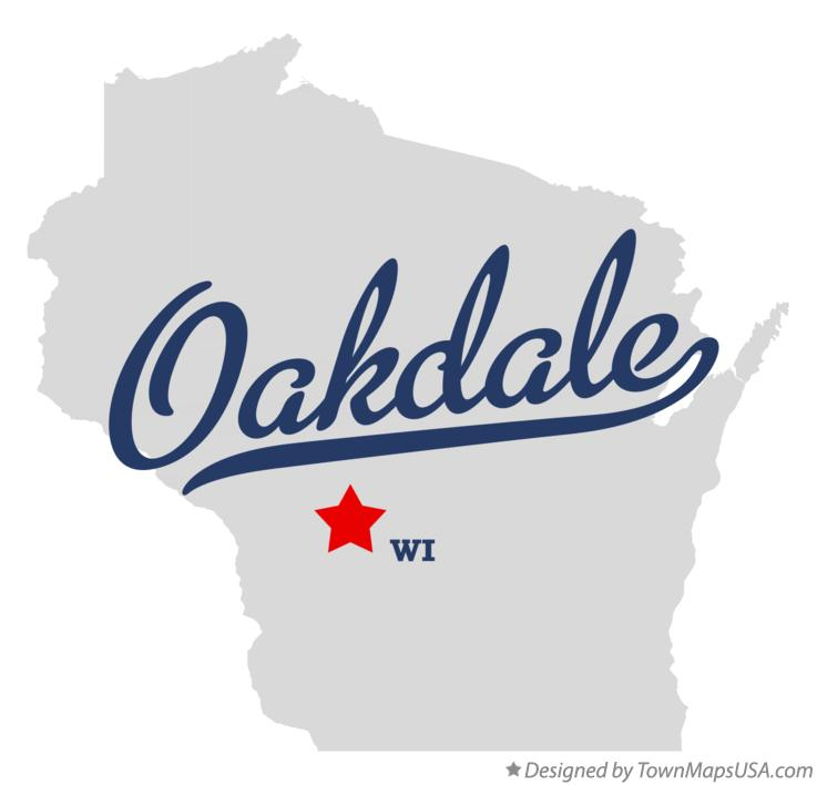 Map of Oakdale Wisconsin WI