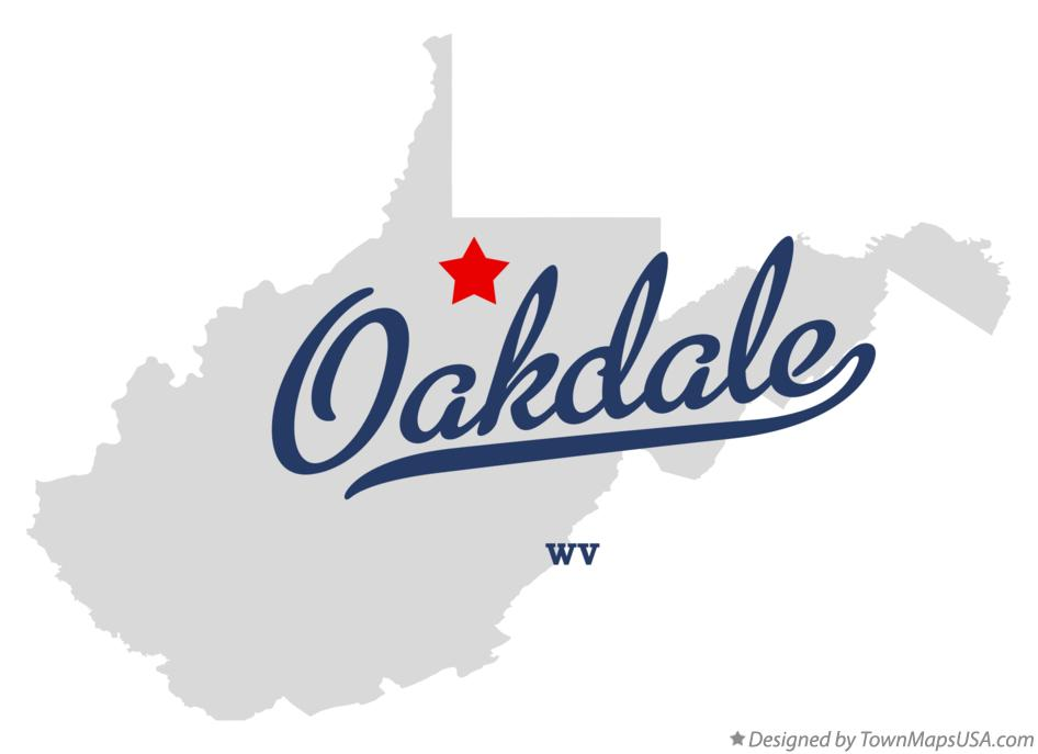 Map of Oakdale West Virginia WV