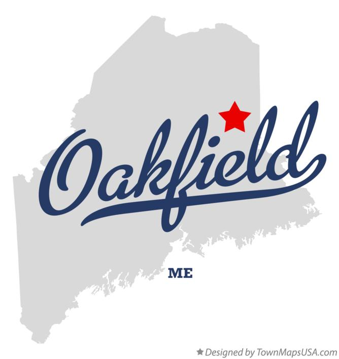 Map of Oakfield Maine ME