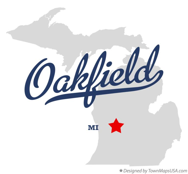 Map of Oakfield Michigan MI