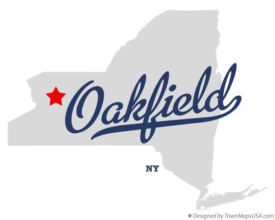 Map of Oakfield New York NY