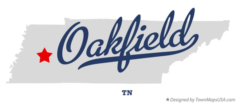 Map of Oakfield Tennessee TN