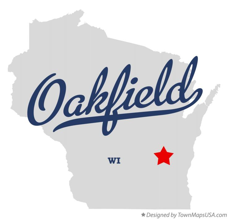 Map of Oakfield Wisconsin WI