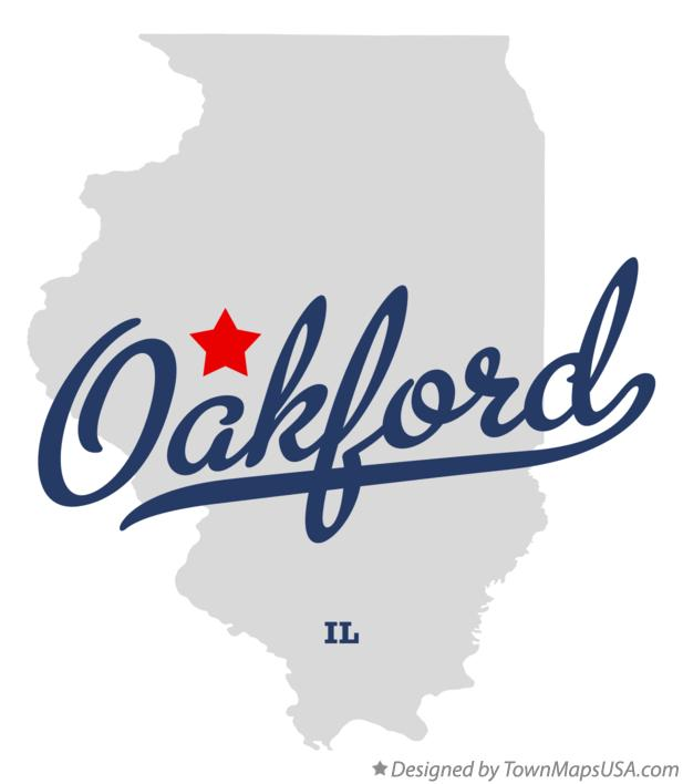 Map of Oakford Illinois IL