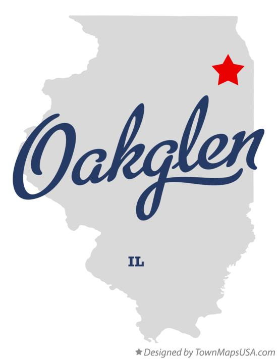 Map of Oakglen Illinois IL