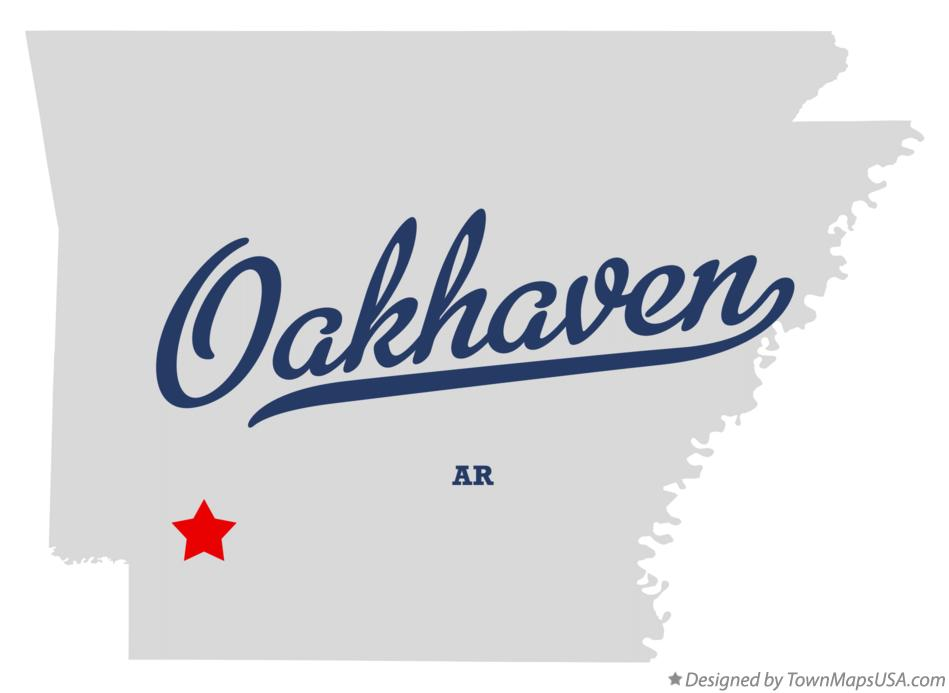 Map of Oakhaven Arkansas AR