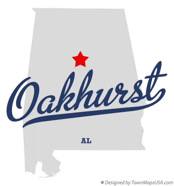 Map of Oakhurst Alabama AL