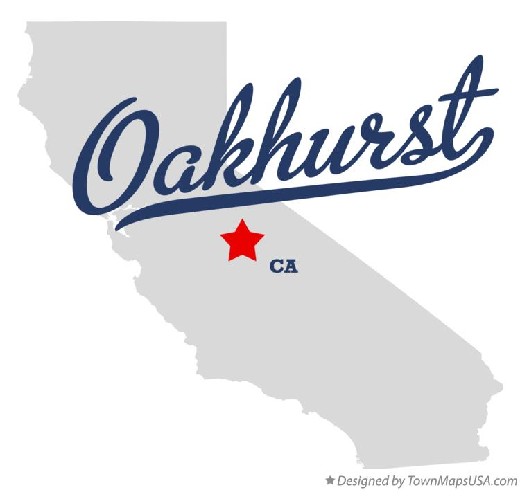 Map of Oakhurst California CA