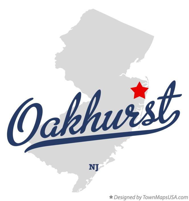 Map of Oakhurst New Jersey NJ