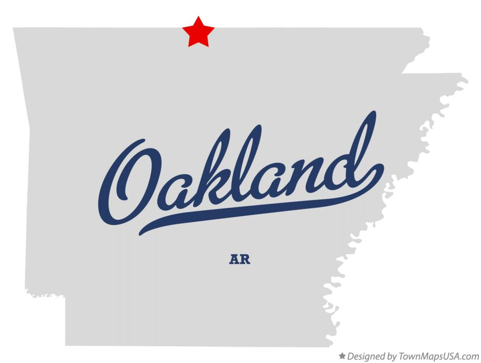 Map of Oakland Arkansas AR