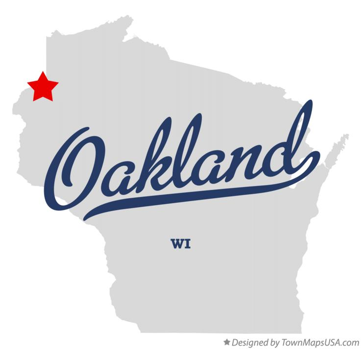 Map of Oakland Wisconsin WI