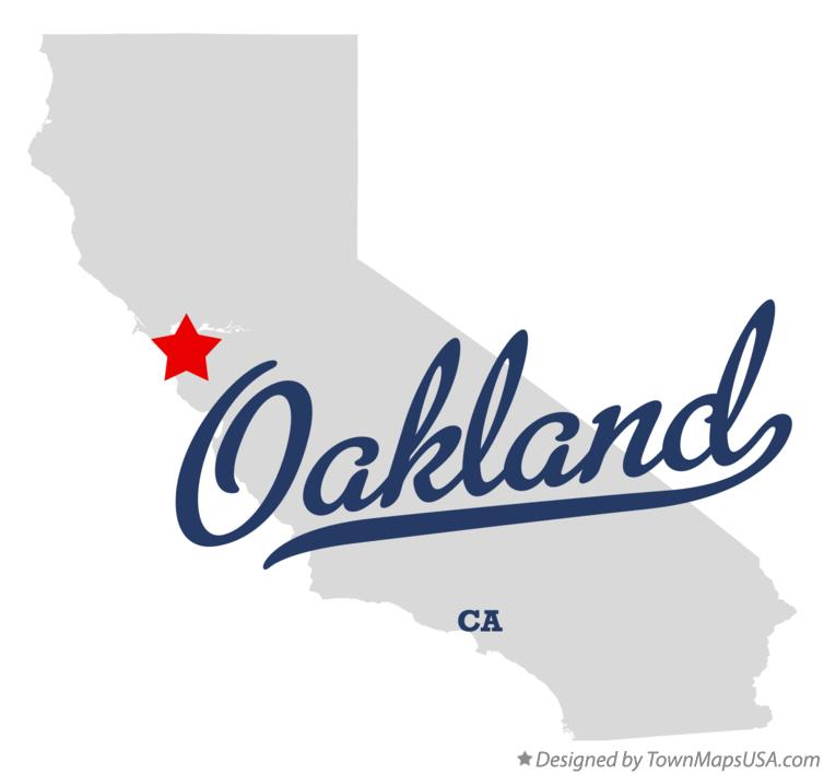Map of Oakland California CA