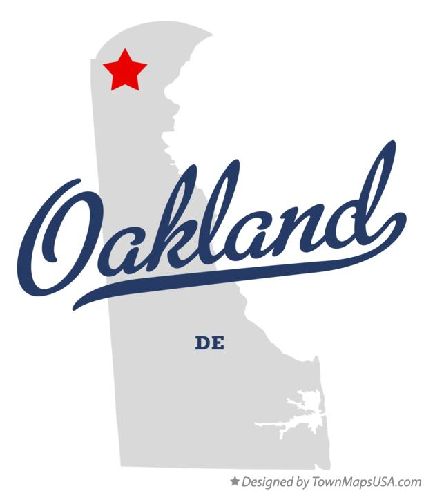 Map of Oakland Delaware DE