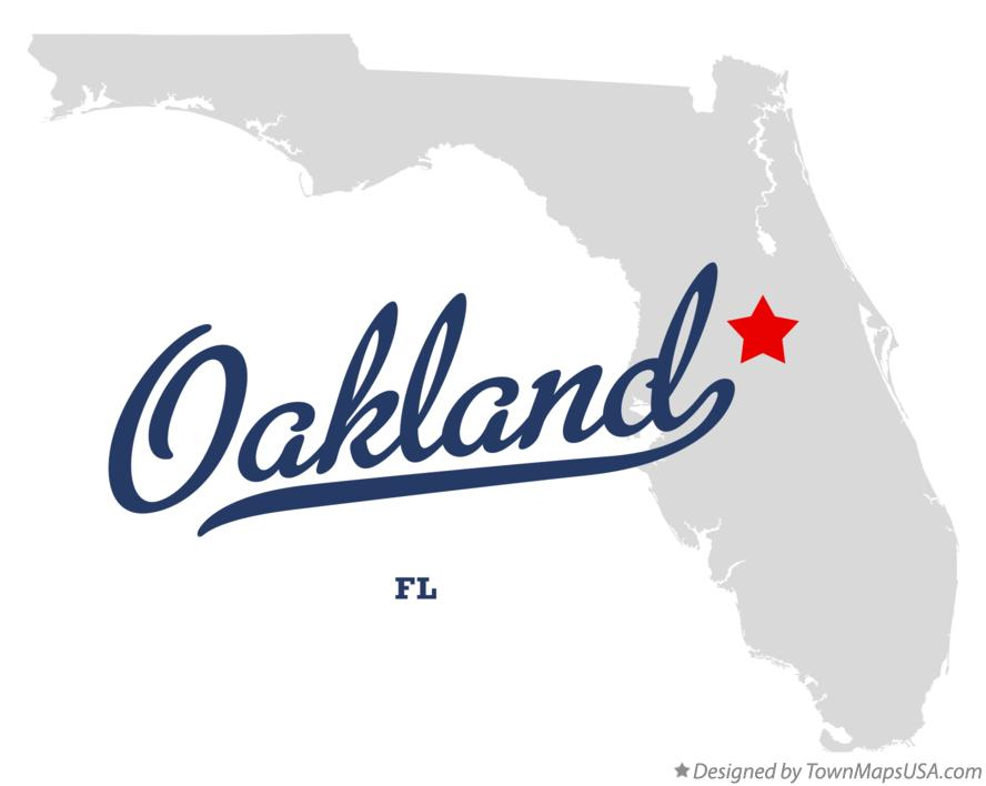 Map of Oakland Florida FL