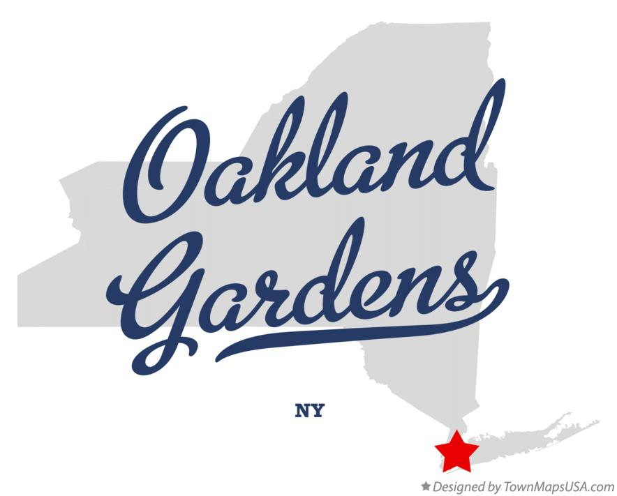 Map of Oakland Gardens New York NY