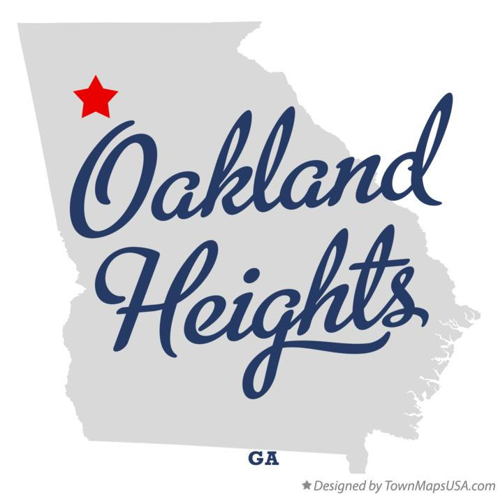 Map of Oakland Heights Georgia GA