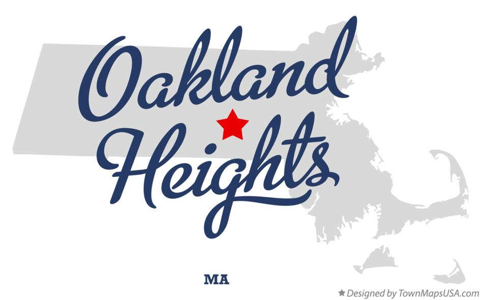 Map of Oakland Heights Massachusetts MA