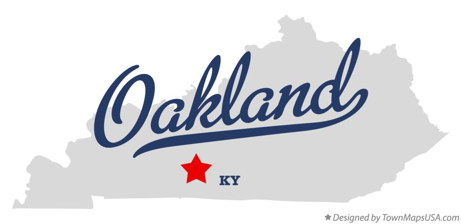 Map of Oakland Kentucky KY