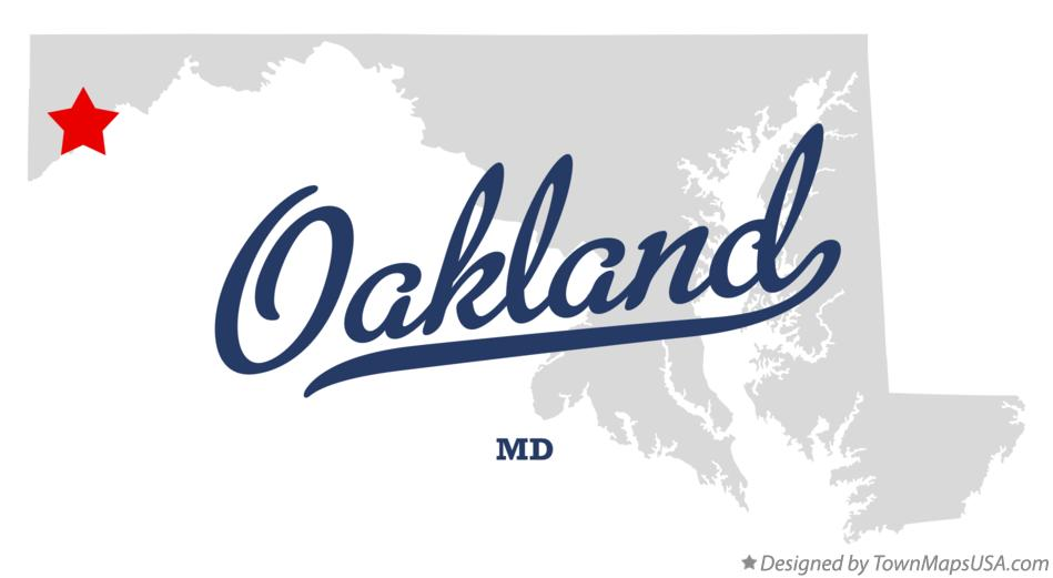 Map of Oakland Maryland MD
