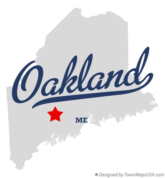 Map Of Oakland Me Maine