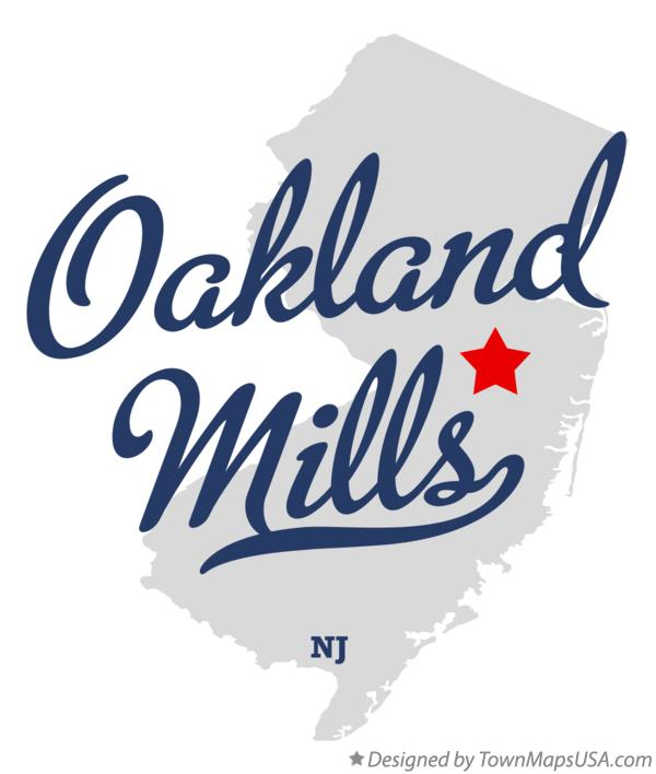 Map of Oakland Mills New Jersey NJ