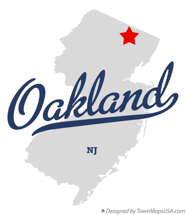 Map of Oakland New Jersey NJ