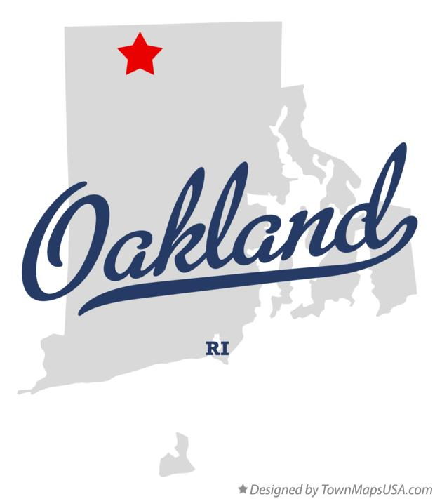 Map of Oakland Rhode Island RI