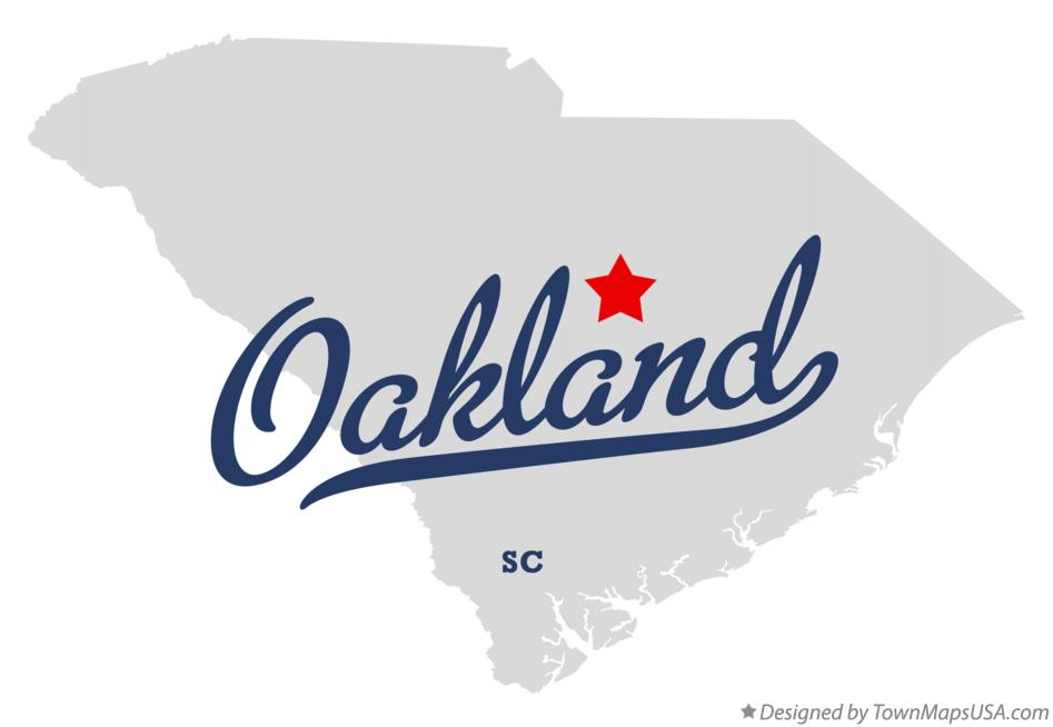 Map of Oakland South Carolina SC