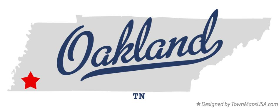 Oakland (TN) United States  city pictures gallery : Map of Oakland, Fayette County, TN, Tennessee