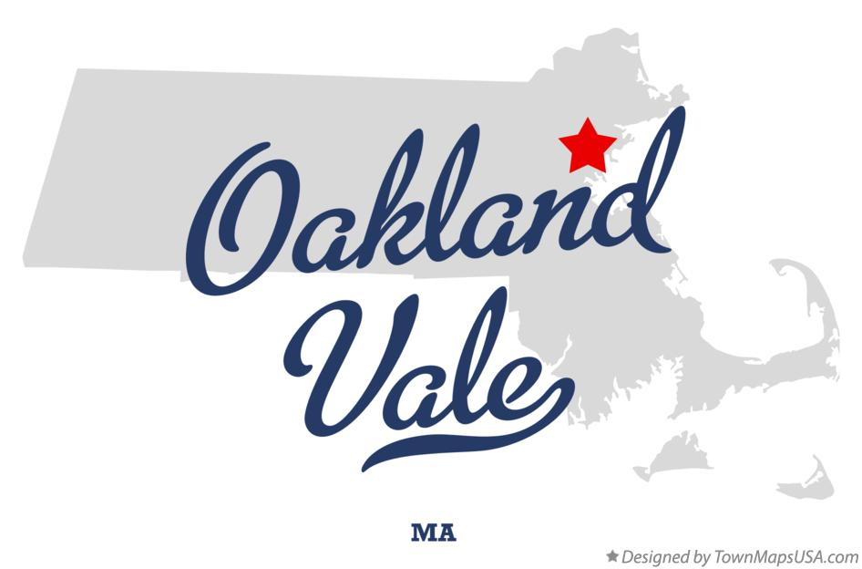 Map of Oakland Vale Massachusetts MA
