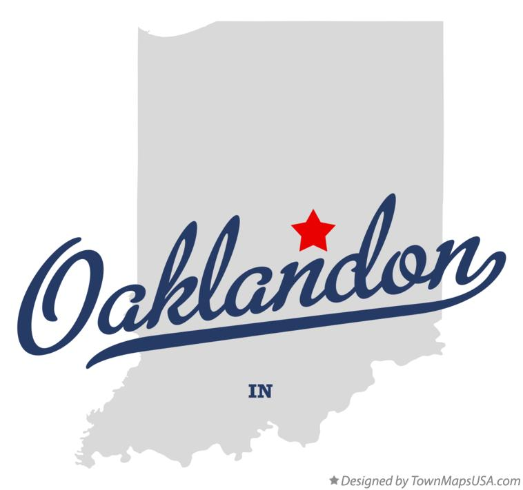 Map of Oaklandon Indiana IN