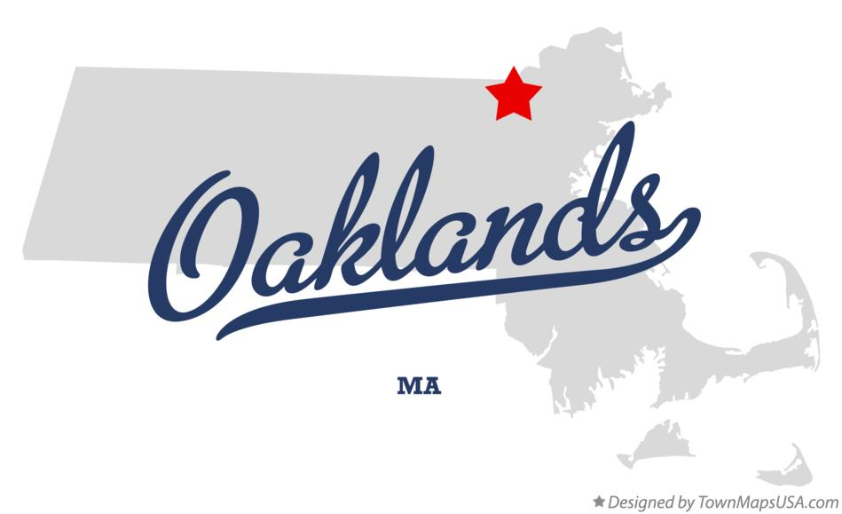 Map of Oaklands Massachusetts MA