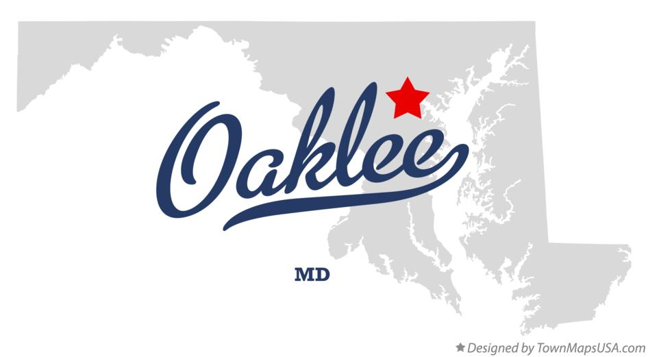 Map of Oaklee Maryland MD