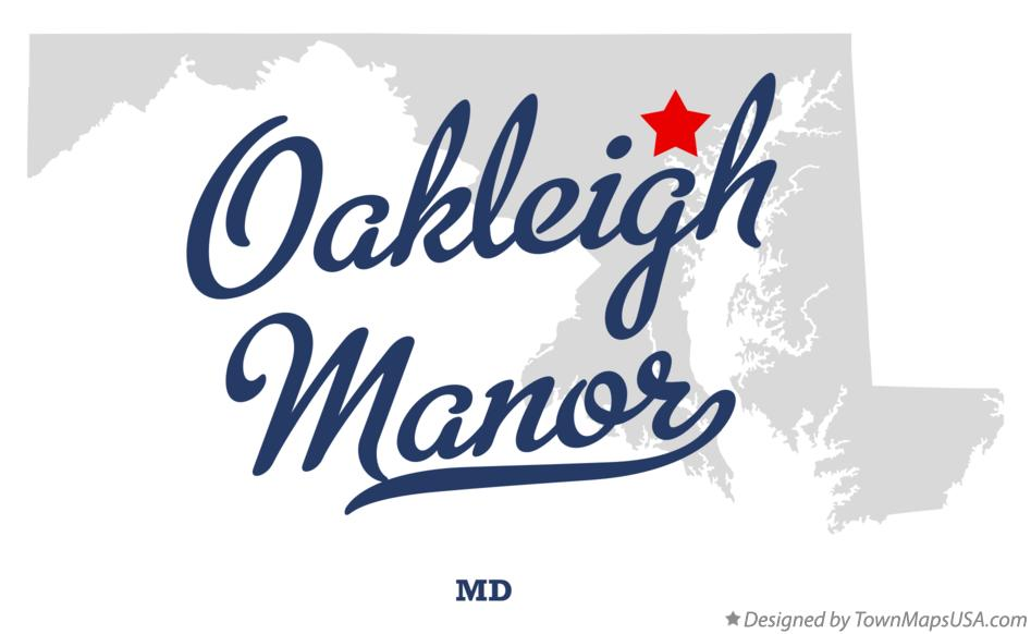 Map of Oakleigh Manor Maryland MD