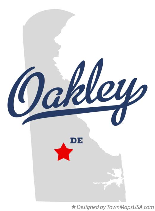 Map of Oakley Delaware DE