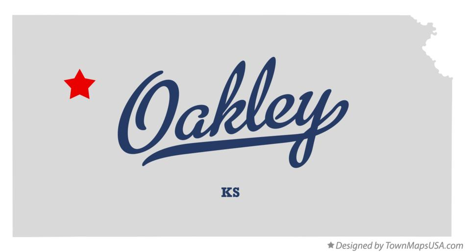 Map of Oakley Kansas KS