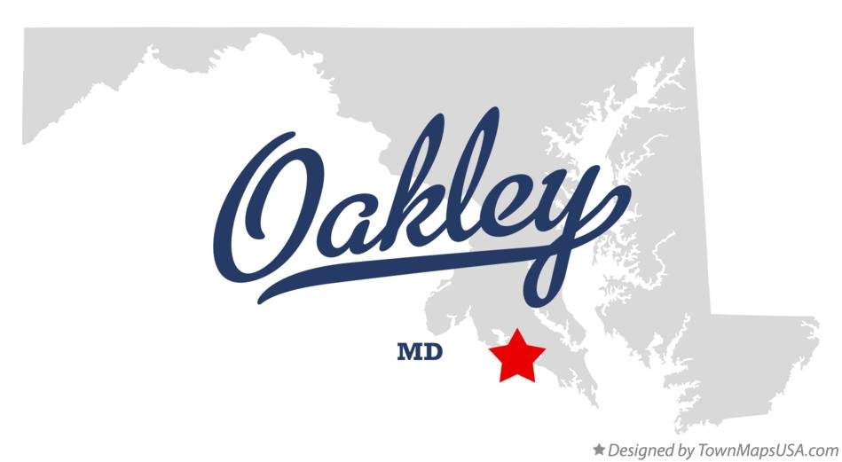Map of Oakley Maryland MD