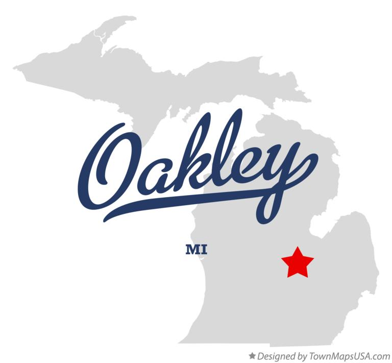 Map of Oakley Michigan MI