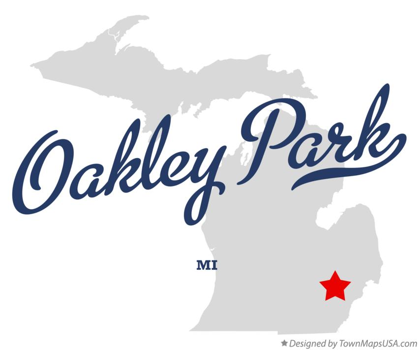 Map of Oakley Park Michigan MI