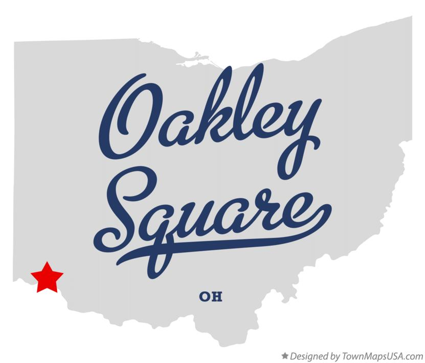 Map of Oakley Square Ohio OH
