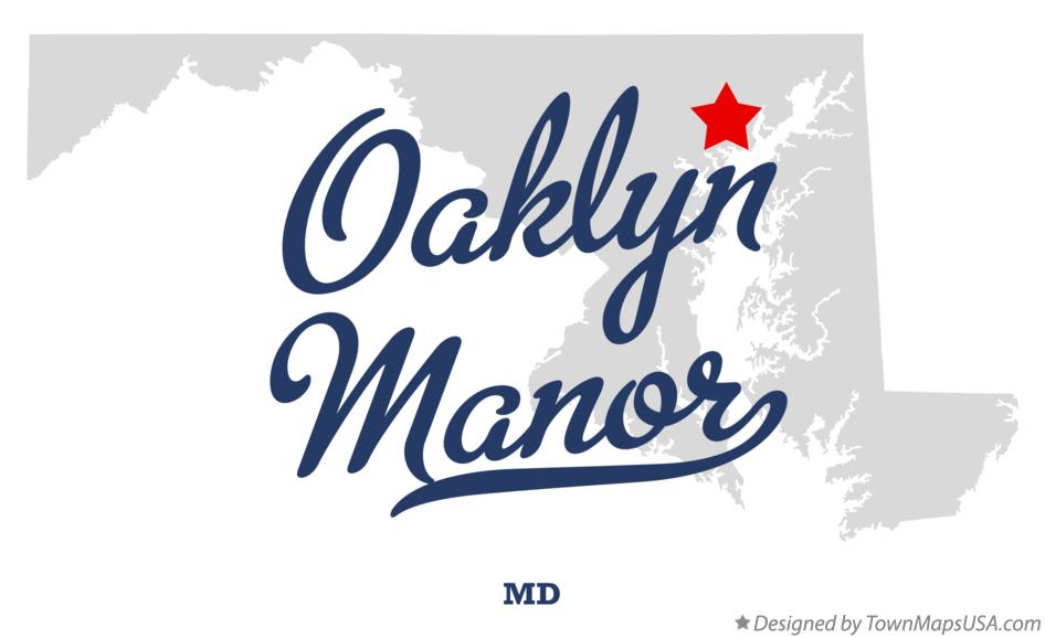 Map of Oaklyn Manor Maryland MD
