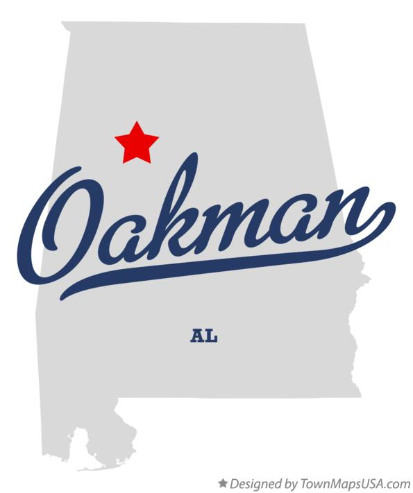 Map of Oakman Alabama AL