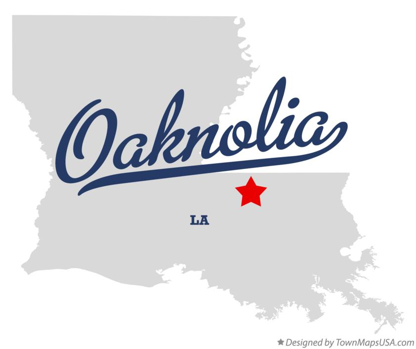 Map of Oaknolia Louisiana LA