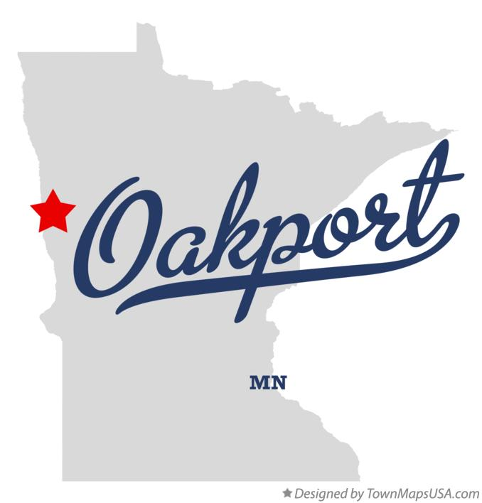 Map of Oakport Minnesota MN