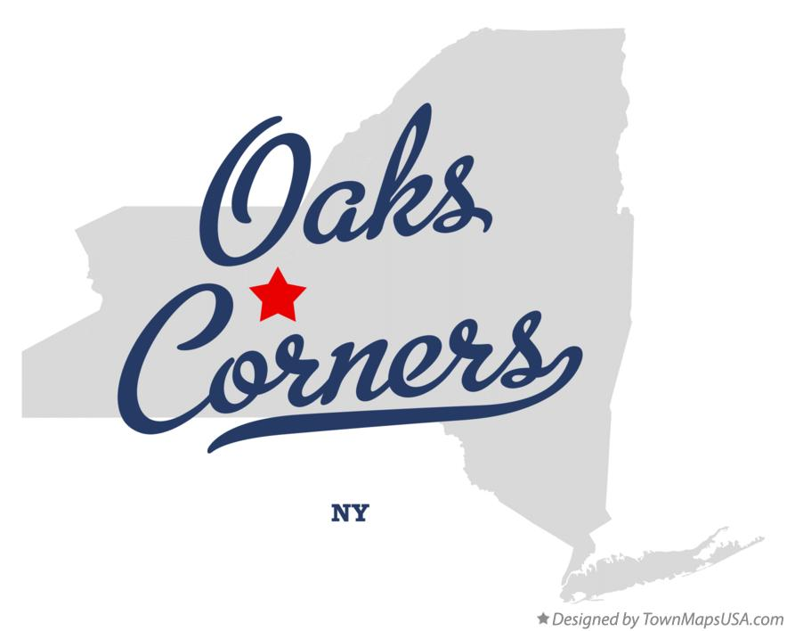 Map of Oaks Corners New York NY