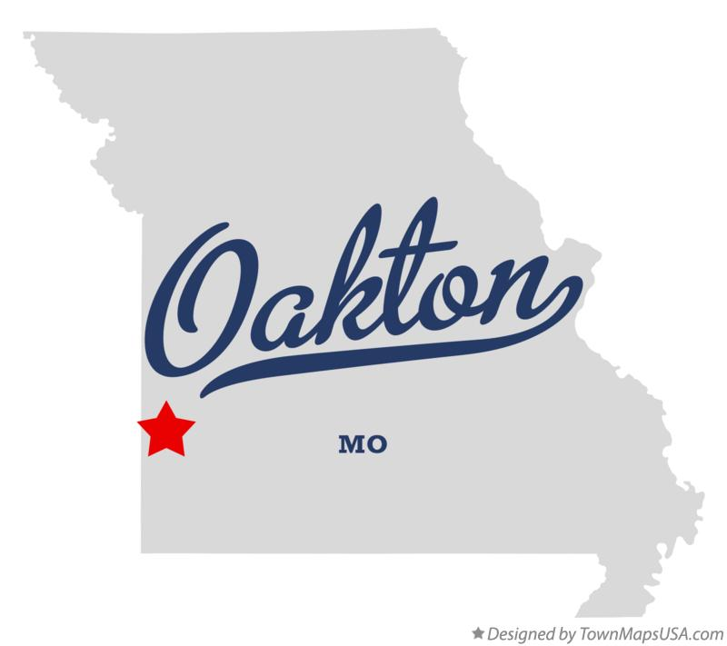 Map of Oakton Missouri MO